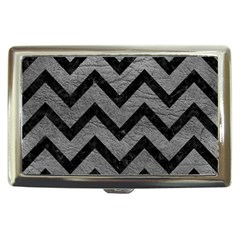 Chevron9 Black Marble & Gray Leather (r) Cigarette Money Cases