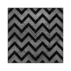 Chevron9 Black Marble & Gray Leather (r) Acrylic Tangram Puzzle (6  X 6 )