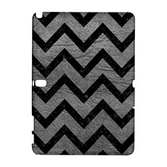 Chevron9 Black Marble & Gray Leather (r) Galaxy Note 1