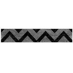 Chevron9 Black Marble & Gray Leather (r) Flano Scarf (large)