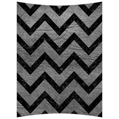 Chevron9 Black Marble & Gray Leather (r) Back Support Cushion