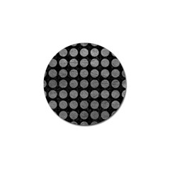 Circles1 Black Marble & Gray Leather Golf Ball Marker (4 Pack)
