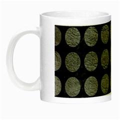 Circles1 Black Marble & Gray Leather Night Luminous Mugs