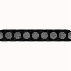 Circles1 Black Marble & Gray Leather Small Bar Mats