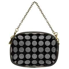 Circles1 Black Marble & Gray Leather Chain Purses (one Side)