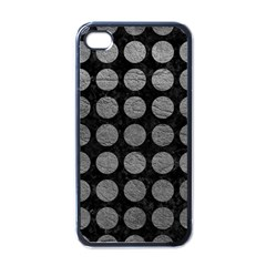 Circles1 Black Marble & Gray Leather Apple Iphone 4 Case (black)