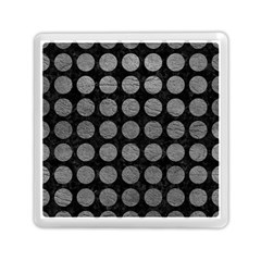 Circles1 Black Marble & Gray Leather Memory Card Reader (square)