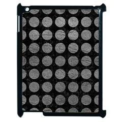 Circles1 Black Marble & Gray Leather Apple Ipad 2 Case (black)