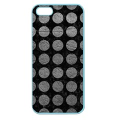Circles1 Black Marble & Gray Leather Apple Seamless Iphone 5 Case (color)