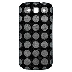 Circles1 Black Marble & Gray Leather Samsung Galaxy S3 S Iii Classic Hardshell Back Case