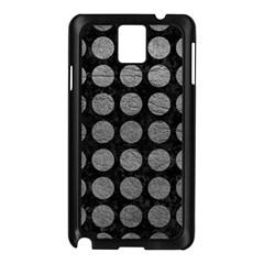 Circles1 Black Marble & Gray Leather Samsung Galaxy Note 3 N9005 Case (black)