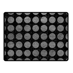 Circles1 Black Marble & Gray Leather Double Sided Fleece Blanket (small)