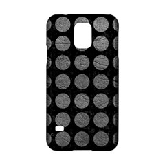 Circles1 Black Marble & Gray Leather Samsung Galaxy S5 Hardshell Case