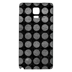 Circles1 Black Marble & Gray Leather Galaxy Note 4 Back Case