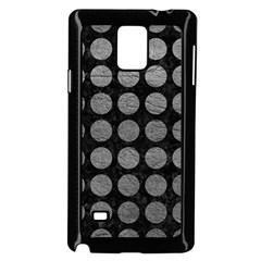 Circles1 Black Marble & Gray Leather Samsung Galaxy Note 4 Case (black)