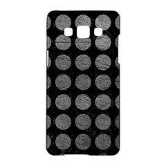 Circles1 Black Marble & Gray Leather Samsung Galaxy A5 Hardshell Case