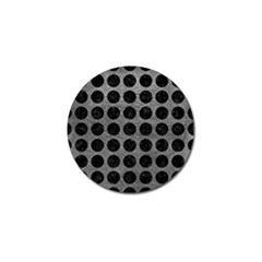Circles1 Black Marble & Gray Leather (r) Golf Ball Marker (4 Pack)