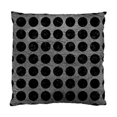 Circles1 Black Marble & Gray Leather (r) Standard Cushion Case (two Sides)
