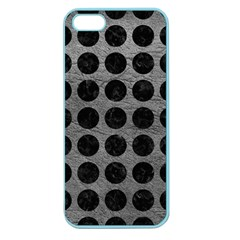 Circles1 Black Marble & Gray Leather (r) Apple Seamless Iphone 5 Case (color)