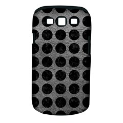 Circles1 Black Marble & Gray Leather (r) Samsung Galaxy S Iii Classic Hardshell Case (pc+silicone)