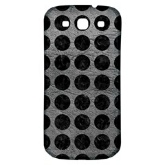 Circles1 Black Marble & Gray Leather (r) Samsung Galaxy S3 S Iii Classic Hardshell Back Case