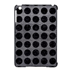 Circles1 Black Marble & Gray Leather (r) Apple Ipad Mini Hardshell Case (compatible With Smart Cover)