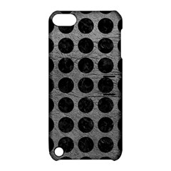 Circles1 Black Marble & Gray Leather (r) Apple Ipod Touch 5 Hardshell Case With Stand