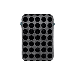 Circles1 Black Marble & Gray Leather (r) Apple Ipad Mini Protective Soft Cases