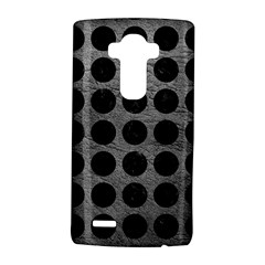 Circles1 Black Marble & Gray Leather (r) Lg G4 Hardshell Case