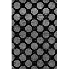 Circles2 Black Marble & Gray Leather 5 5  X 8 5  Notebooks