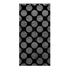 Circles2 Black Marble & Gray Leather Shower Curtain 36  X 72  (stall)