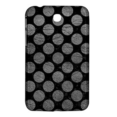 Circles2 Black Marble & Gray Leather Samsung Galaxy Tab 3 (7 ) P3200 Hardshell Case