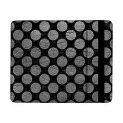 Circles2 Black Marble & Gray Leather Samsung Galaxy Tab Pro 8 4  Flip Case