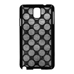 Circles2 Black Marble & Gray Leather Samsung Galaxy Note 3 Neo Hardshell Case (black)