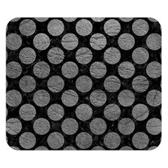 Circles2 Black Marble & Gray Leather Double Sided Flano Blanket (small)