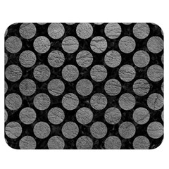 Circles2 Black Marble & Gray Leather Double Sided Flano Blanket (medium)