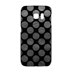 Circles2 Black Marble & Gray Leather Galaxy S6 Edge