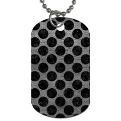 Circles2 Black Marble & Gray Leather (r) Dog Tag (one Side)
