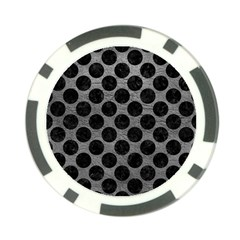 Circles2 Black Marble & Gray Leather (r) Poker Chip Card Guard (10 Pack)