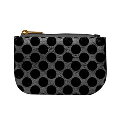 Circles2 Black Marble & Gray Leather (r) Mini Coin Purses