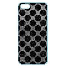 Circles2 Black Marble & Gray Leather (r) Apple Seamless Iphone 5 Case (color)