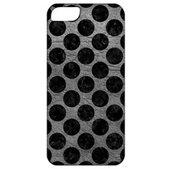 Circles2 Black Marble & Gray Leather (r) Apple Iphone 5 Classic Hardshell Case