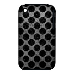 Circles2 Black Marble & Gray Leather (r) Iphone 3s/3gs