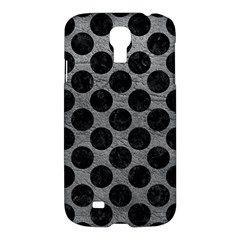 Circles2 Black Marble & Gray Leather (r) Samsung Galaxy S4 I9500/i9505 Hardshell Case