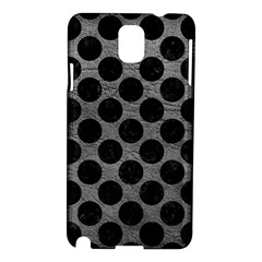 Circles2 Black Marble & Gray Leather (r) Samsung Galaxy Note 3 N9005 Hardshell Case