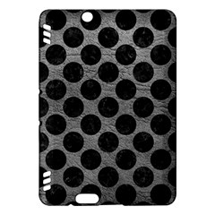Circles2 Black Marble & Gray Leather (r) Kindle Fire Hdx Hardshell Case