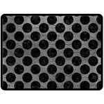 CIRCLES2 BLACK MARBLE & GRAY LEATHER (R) Double Sided Fleece Blanket (Large)  80 x60 Blanket Back