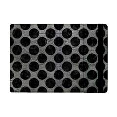 Circles2 Black Marble & Gray Leather (r) Ipad Mini 2 Flip Cases