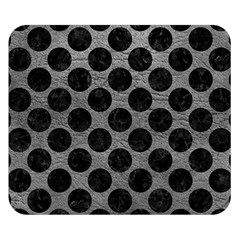 Circles2 Black Marble & Gray Leather (r) Double Sided Flano Blanket (small)
