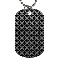 Circles3 Black Marble & Gray Leather Dog Tag (one Side)